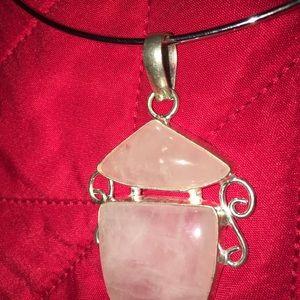 Beautiful Light Plush Pink Stone Pendant